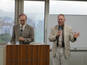 In Sapporo with my host and  interpreter Dr. William Wood.